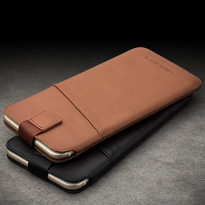 "QIALINO new arrival For iphone 6 6s 4.7 Case new case Pouch for iphone 6 plus 6s plus 5.5"" Leather with Card Slot Luxury Case"