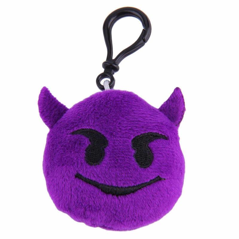 Emoji Pelúcia Keychain Chaveiro Chave Anel Chave Cadeia Saco Rosto Pelúcia Emoji Emoticon Gancho Cadeia de Telefone Chaveiro Pele