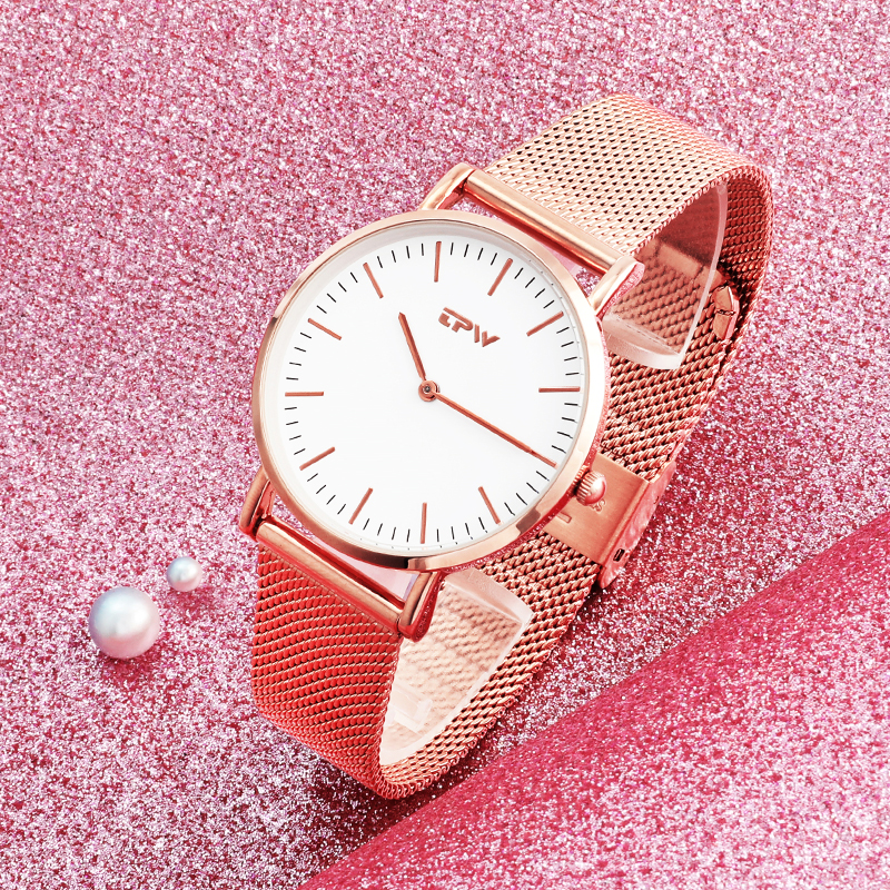 Ultra Thin Pupular Simple Dial Women Watch Water Resistant 3ATM Watch Luxury Classic Daily Casual Watch For Lady Stainless Steel