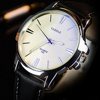 2017 Fashion Top Brand Luxury Men Watches YAZOLE Quartz Business Hodinky Mens Watch Male Clock Wrist