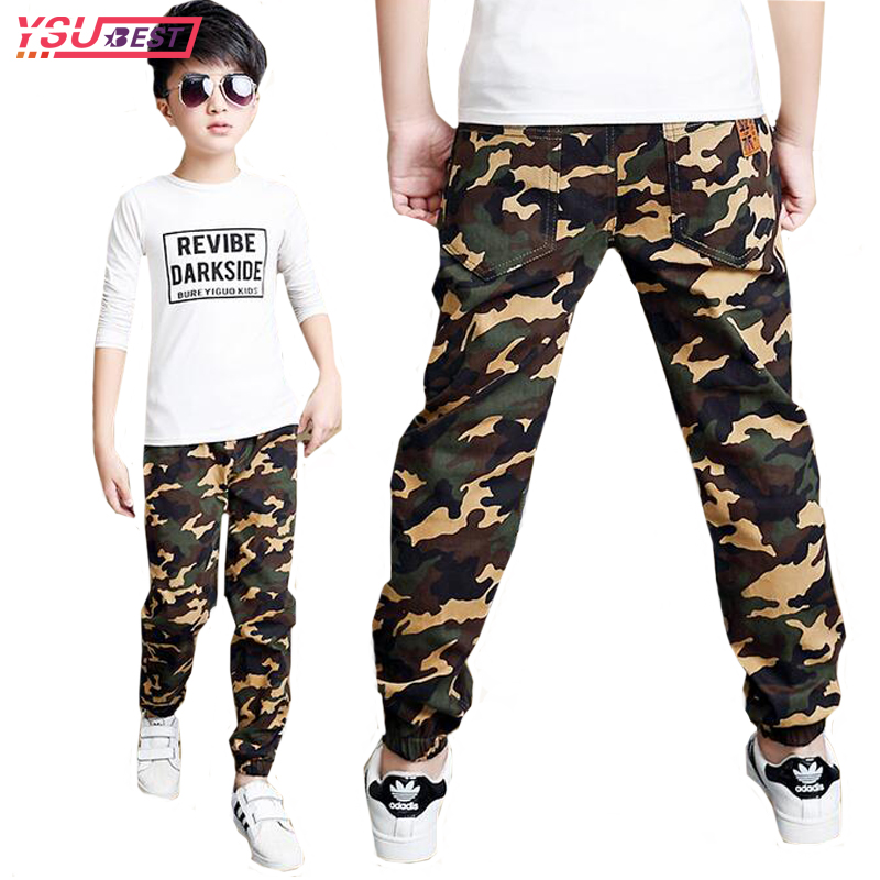 2018 New Boys Pants Children Pants Army Kids Clothes Casual Trousers For Teenage Boys Clothing Sport Fashion Camouflage Clothes boys pants winter autumn kids trousers for children teenage leisure school teens fashion casual harem capris gh458