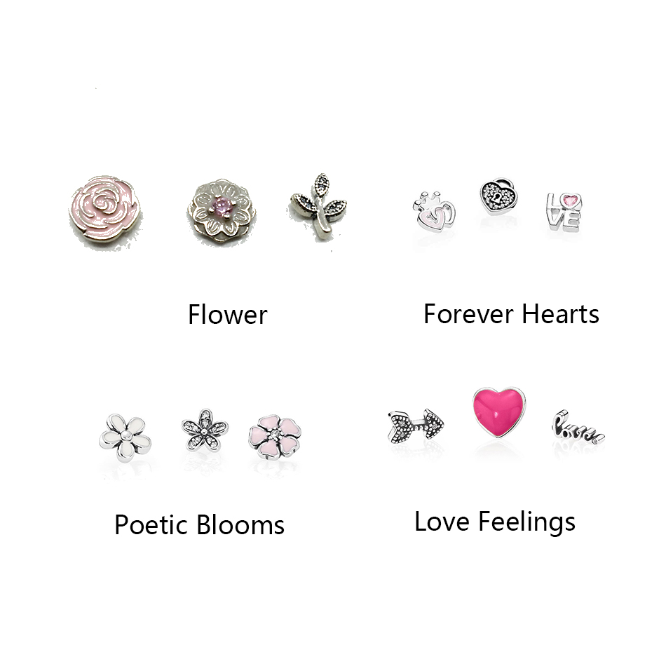 Petites Charms Beads for Women Locket Necklace Authentic 925 Sterling Silver For Women Wedding Gift Fine Jewelry
