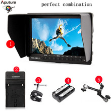 """Aputure Magic Arm + FW-760 7"""" Clip-on HD LCD HDMI AV Input Camera Video Monitor Display+Battery+Charger for Canon Nikon DSLR"""