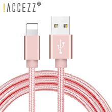 !ACCEZZ Usb Charging Cable 8Pin For Iphone XR X XS MAX SE Charger Sync Data Cord Lighting 8 7 6s 6 Plus Charge Cables