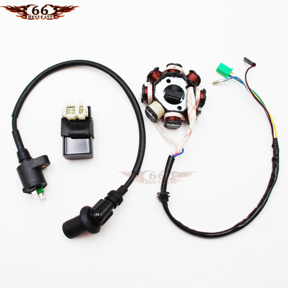 CDI w// Ignition Coil 50cc to 125cc ATV Scooter Moped Go Kart LiFan Eagle TaoTao