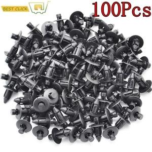 Image 1 - 100 Pcs Car Fastener fit 7mm Dia Hole Black Push Retainer Rivets Clips for Toyota Automobile Door Bumper Fender Cover Trim Clip