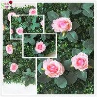 Spr Бесплатная доставка 10 шт./лот дешевые искусственные цветы шелк зеленая трава стены свадьба фон арки цветок украшение стола цветочный