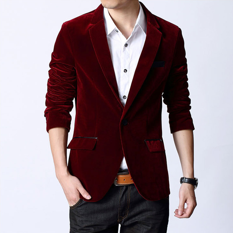 Popular Red and Black Velvet Suit for Men-Buy Cheap Red and Black ...