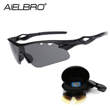Professional Bicycle Glasses Polarized Cycling Sunglasses Outdoor Sports MTB Bike Goggles Eyewear UV 400 5 Lens With 8 Colors