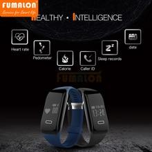 Новый черный H3 Bluetooth 4.0 умный Браслет Шагомер сердечного ритма спальный Мониторы браслет touch SmartWatch SmartBand