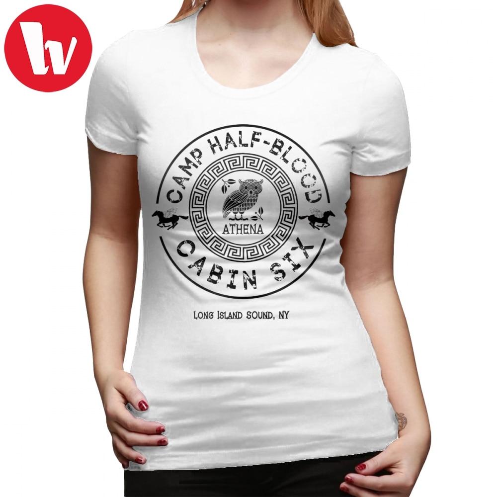 Percy Jackson T-Shirt Cabin Six Athena Percy Jackson Camp Half Blood T Shirt O Neck Summer Women Tshirt Cotton Ladies Tee Shirt