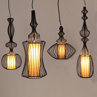 GZMJ Metal Vintage LED Pendant Lights loft Lamps Luminaire Suspendu Amber Led Lights For Home Fixtures Lampshade Lampen Hanglamp