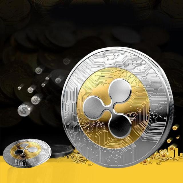 Ripple Coin Commemorative Non-Currency Electroplate Collection BitCoin Party Gift  Souvenir Coin