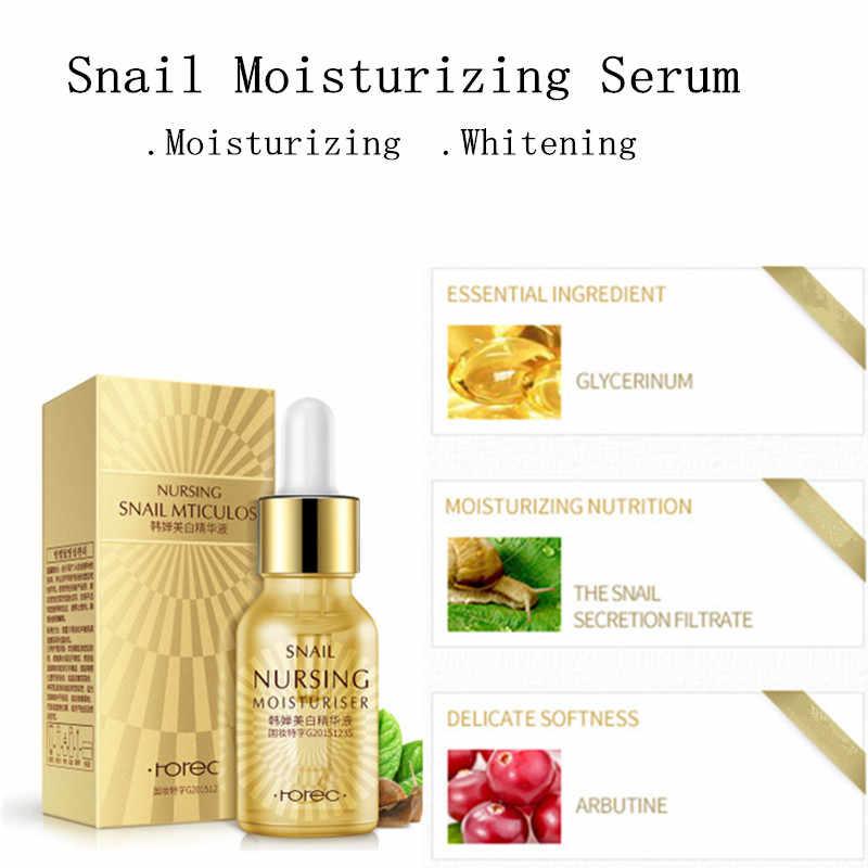 Suero de cara ácido hialurónico té verde Caracol cuidado de la piel hidratante blanqueamiento Anti-envejecimiento esencia Facial avanzada cosmética
