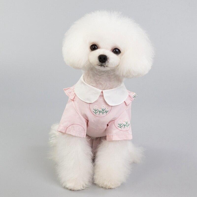 Pet Clothing Pet Dog Dress Clothes Dog Shirts Cotton Summer Beach Vest Short Sleeve Beach Short Sleeve Dog T Shirt Print Tops