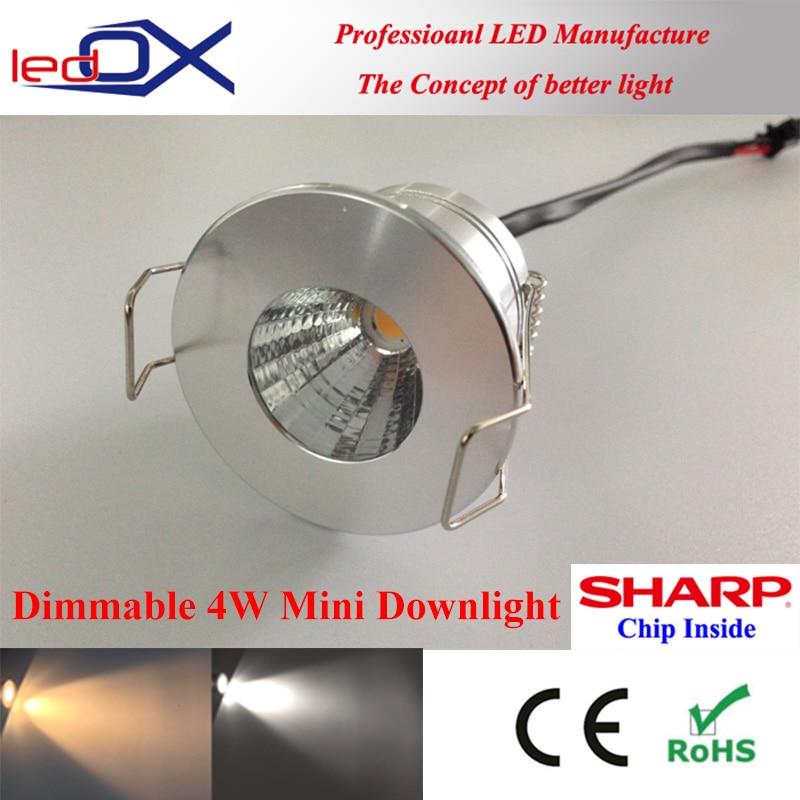 buy popular 1f590 3e564 LEDOX 4W Dimmable mini LED Downlight Sharp COB 12V 110V 220V ...