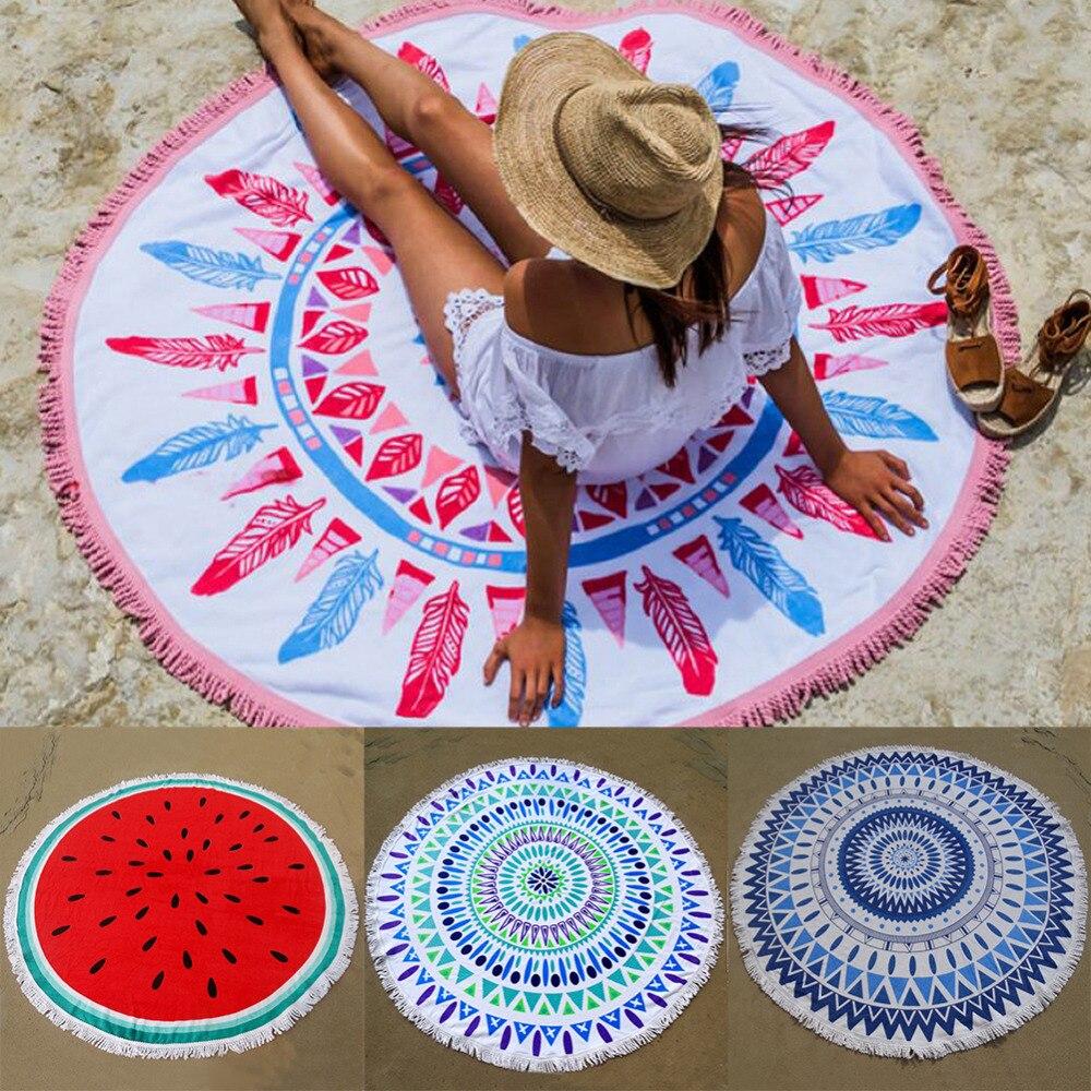 Круглые пляжные коврики оптом