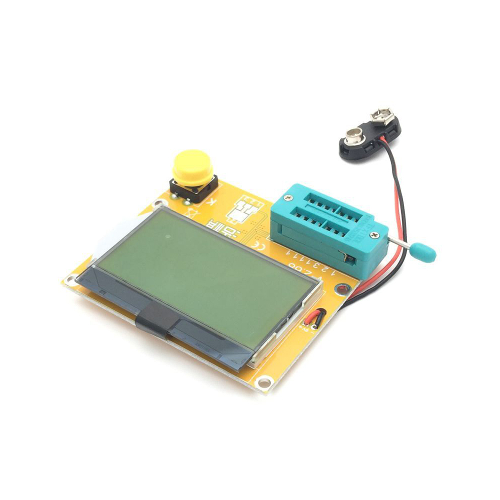 ESR-T4 Mega328 Digital Transistor Tester Diode Triode Capacitance ESR Meter MOS/PNP/NPN LCR 12864 LCD Screen