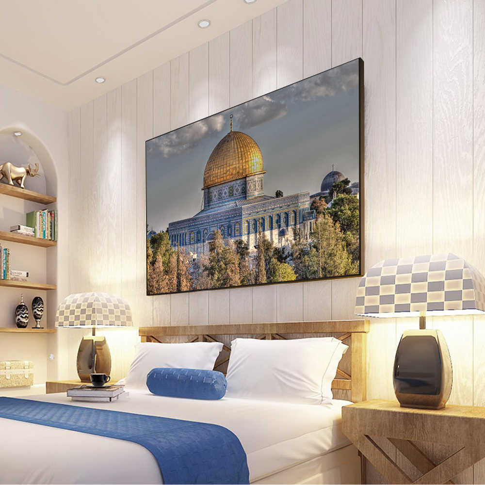 detail feedback questions about masjid al aqsa and dome of the rock rh aliexpress com led rock on wall decor rock wall decorating ideas