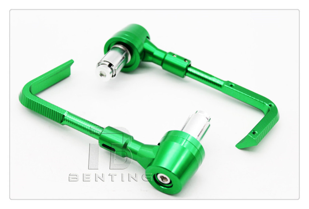7/8 Green Handle Bar CNC Motorcycle Hand Brush Guards Proguard Brake For Kawasaki model standard 22mm Handle Bars