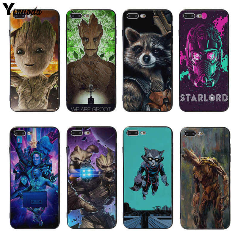 Yinuoda Guardians Of The Galaxy Raket Grootsoft Silicon Case Cover Voor Iphone X Xs Xr Xs Max 5S Se 6 6 S 7 7 Plus 8 8 Plus X Gevallen