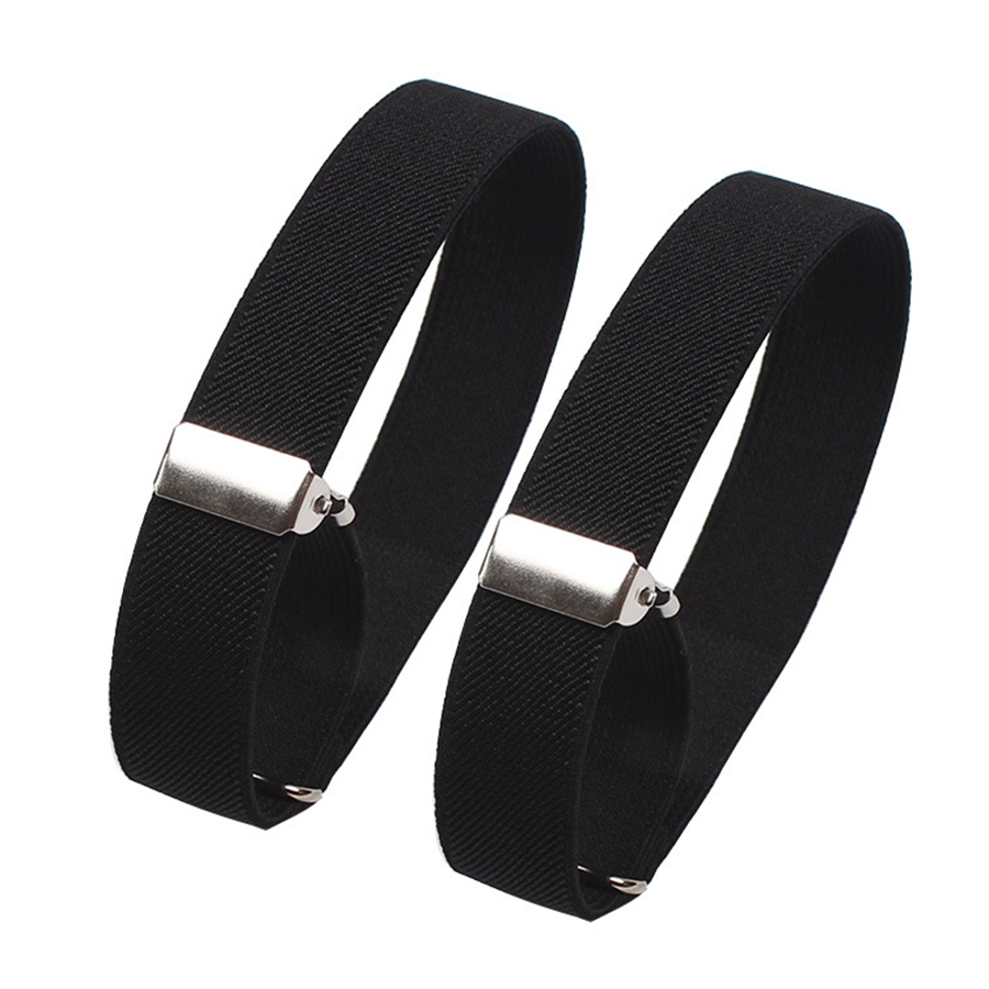 Mens Sleeve Garters Holders Stripe/Plaid Arm Bands Sleeve Shirt Groom Elastic Garter Metal Bracelet For Ladies Non-Slip Straps