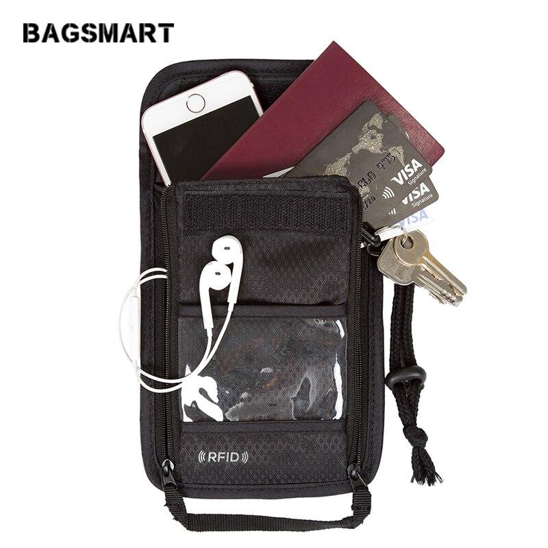 BAGSMART RFID Passaporto Titolare Copertura Nylon ID Card Viaggio - Accessori da viaggio