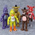 5.5 Pulgadas 5 unids/set PVC Cinco Noches En Figuras de Acción Juguetes de Freddy Con Iluminación Foxy Freddy Fazbear Oso Muñeca vienen
