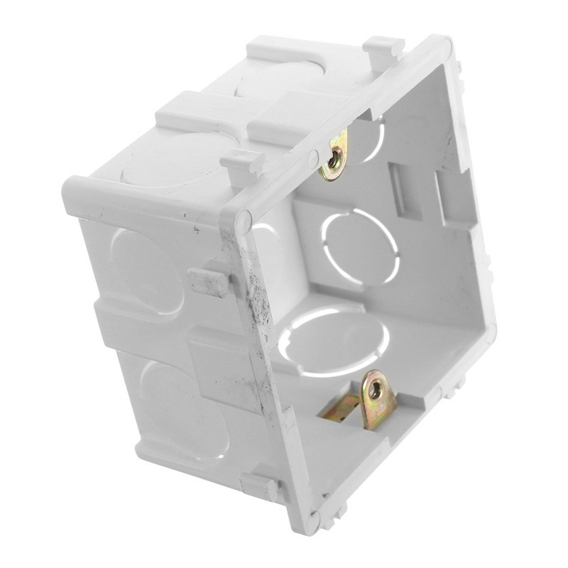 High Quality 86*86mm Cassette Universal White Wall Mounting Box for Wall Switch and Plastic Enclosure Socket Back 86mm Outlets