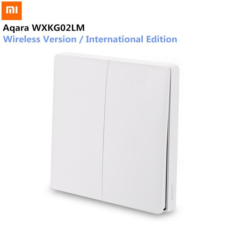 Xiaomi Aqara Wireless Remote Schalter Smart Licht Schalter Drahtlose Version Doppel Schlüssel Internationale Ausgabe