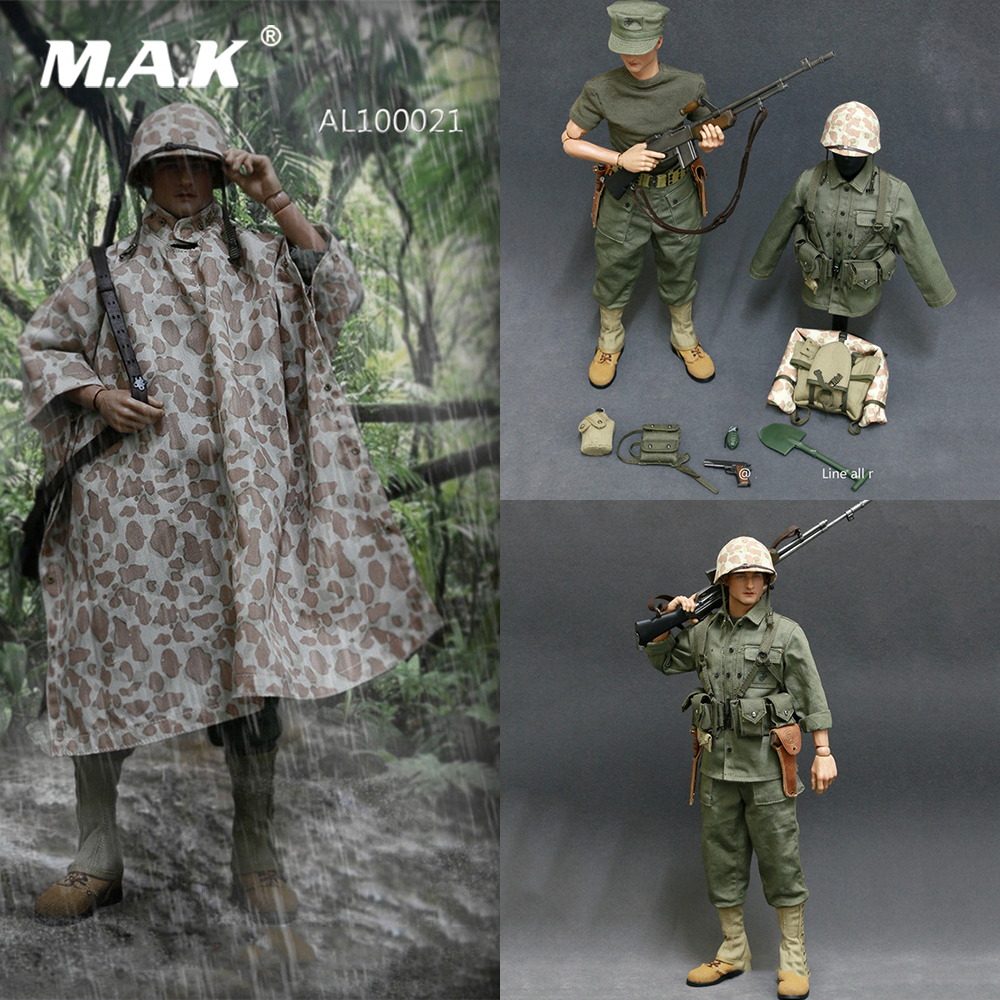 AL100021 1/6 Male Clothes WWII US Marine Corps Browning Automatic Rifle (BAR) Gunner Set Model For 12'' Solider Action Figure