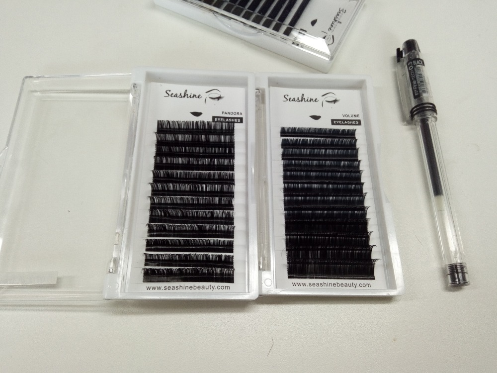 9-14mm mix Volume Eyelash Extension L curl Individual Lashes Extention Mixed Lengths 100% handmade free shipping