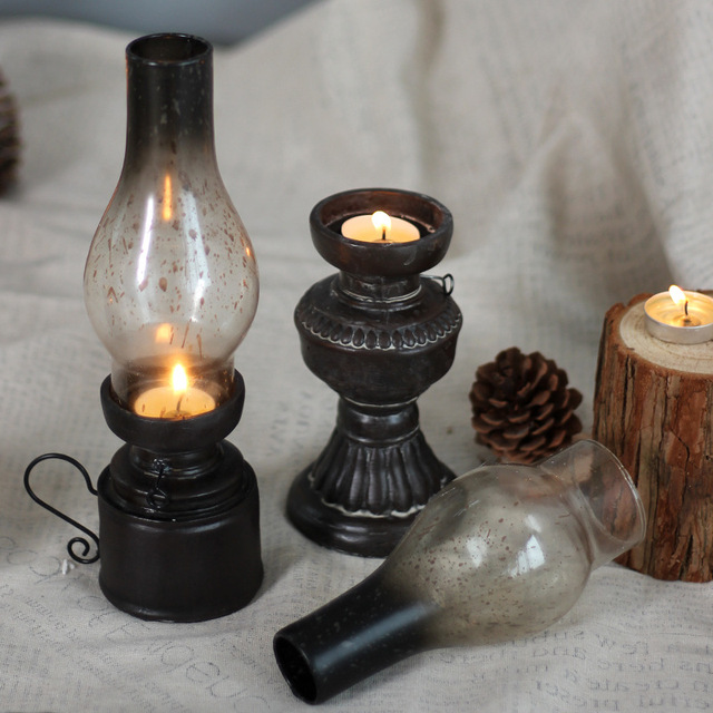 Retro Kerosene Lamp Shaped Candlestick