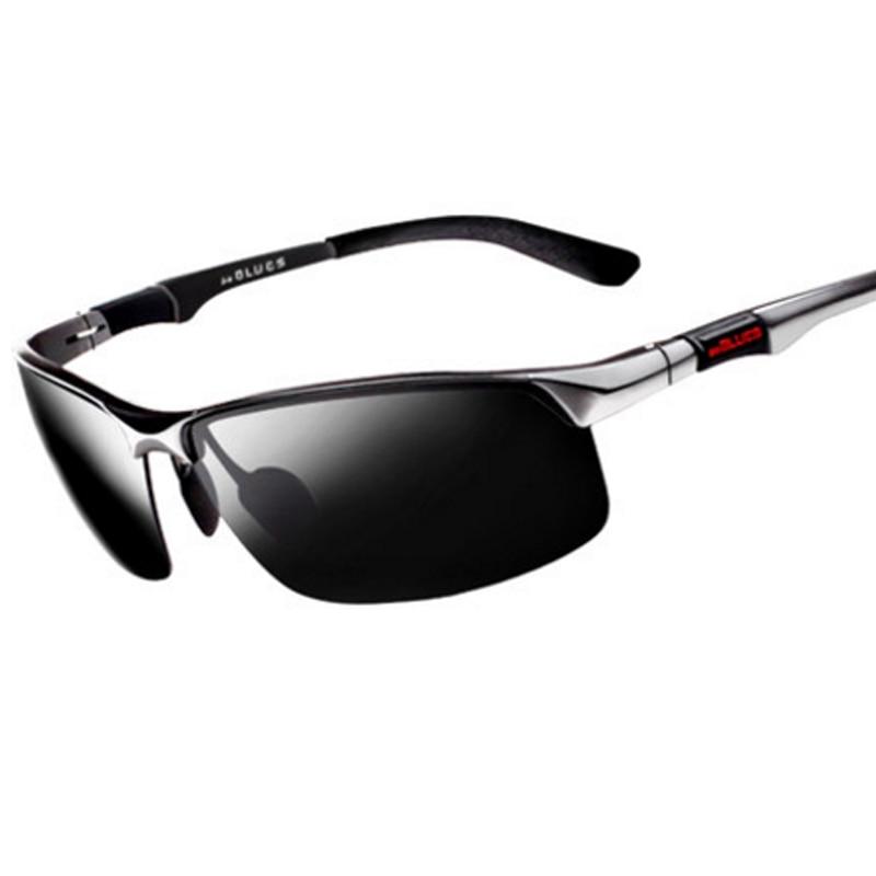 Gugufish алюминиево-магниевый поляризованные солнцезащитные очки мужские рыболовные очки для отдыха поляризованные очки Рыбная ловля ездить ...