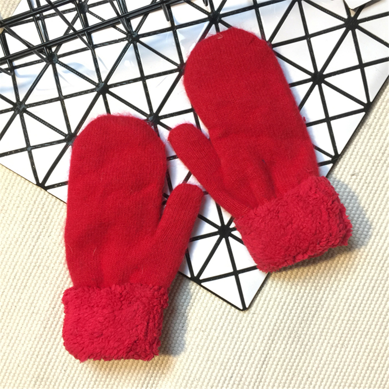 Womens Winter Gloves Without Fingers Knitting Wool Warm Mittens Fingerless Elastic Gloves Diy Glove Candy Color