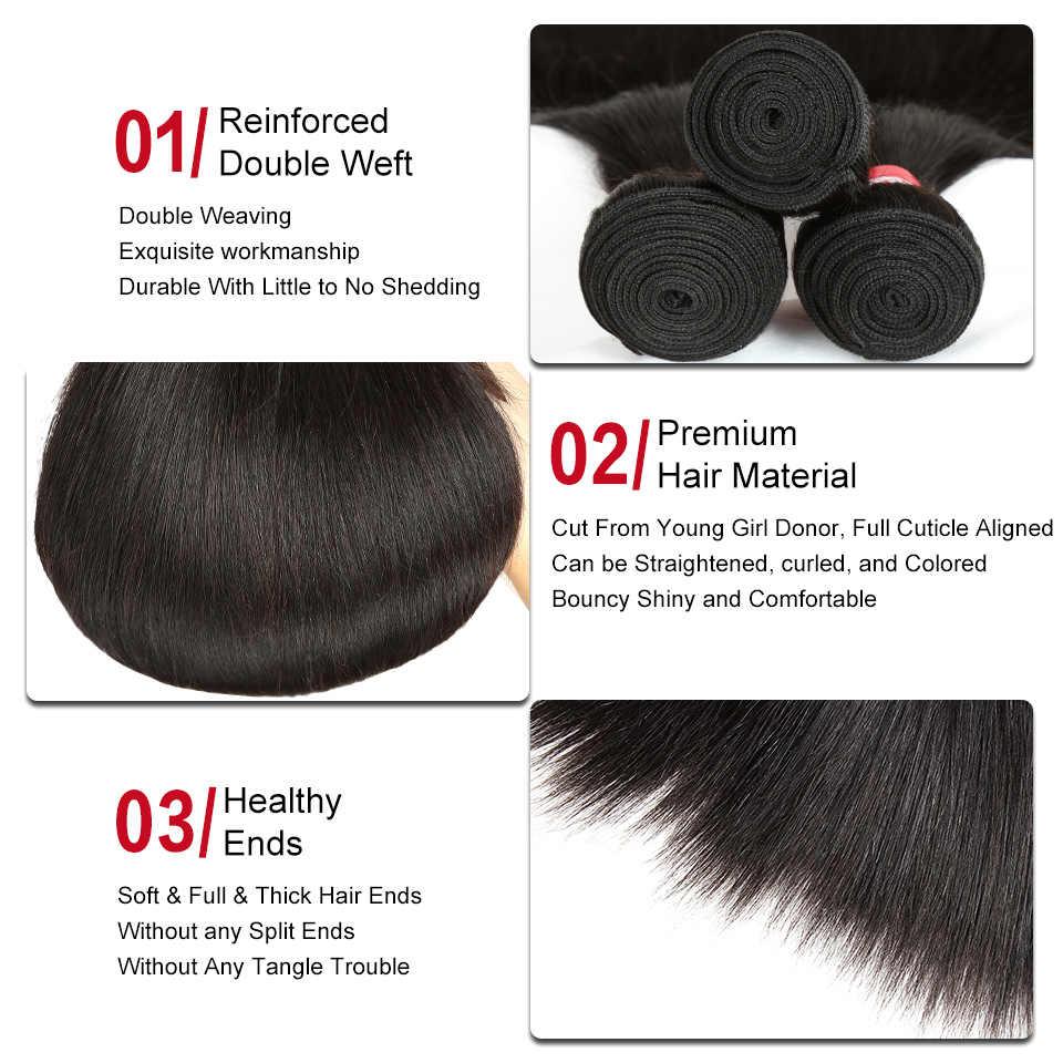 Sleek Straight Braziliaanse Hair Weave Bundels Deal Human Hair Extension Leveranciers 30 32 34 36 Inch Niet Remy 1/3/4 Menselijk Haar Bundels
