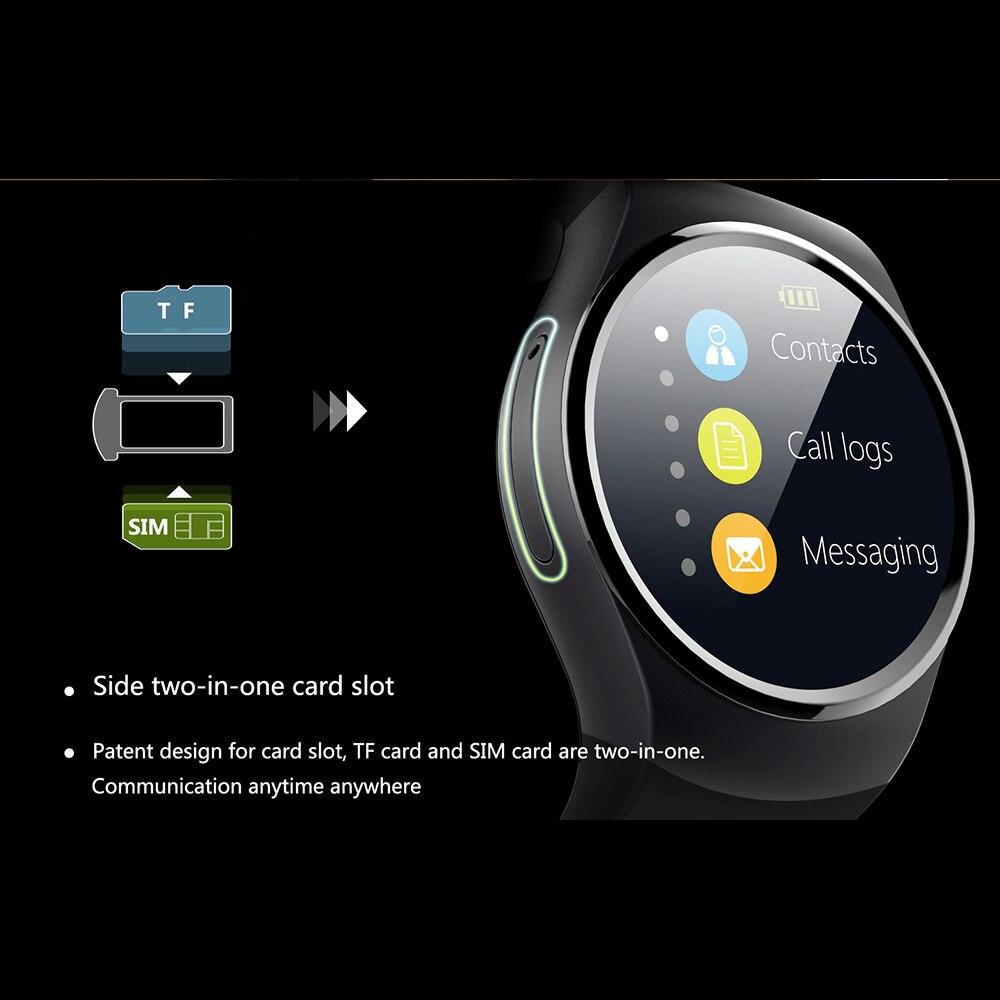 KW18 Bluetooth montre intelligente téléphone prise en charge plein écran SIM TF Smartwatch fréquence cardiaque pour IOS iPhone Android Samsung Xiaomi PK KW88 - 3