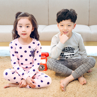 Childrens Spring And Autumn Pajamas Kids Cotton Sleepwear Suits Long Sleeve Baby Girls And Boys Cartoon