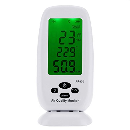 AR830 Digital PM2.5 Detector Air Quality Monitor Temperature Humidity Measurement Thermometer Hygrometer  AC100-240V digital indoor air quality carbon dioxide meter temperature rh humidity twa stel display 99 points made in taiwan co2 monitor