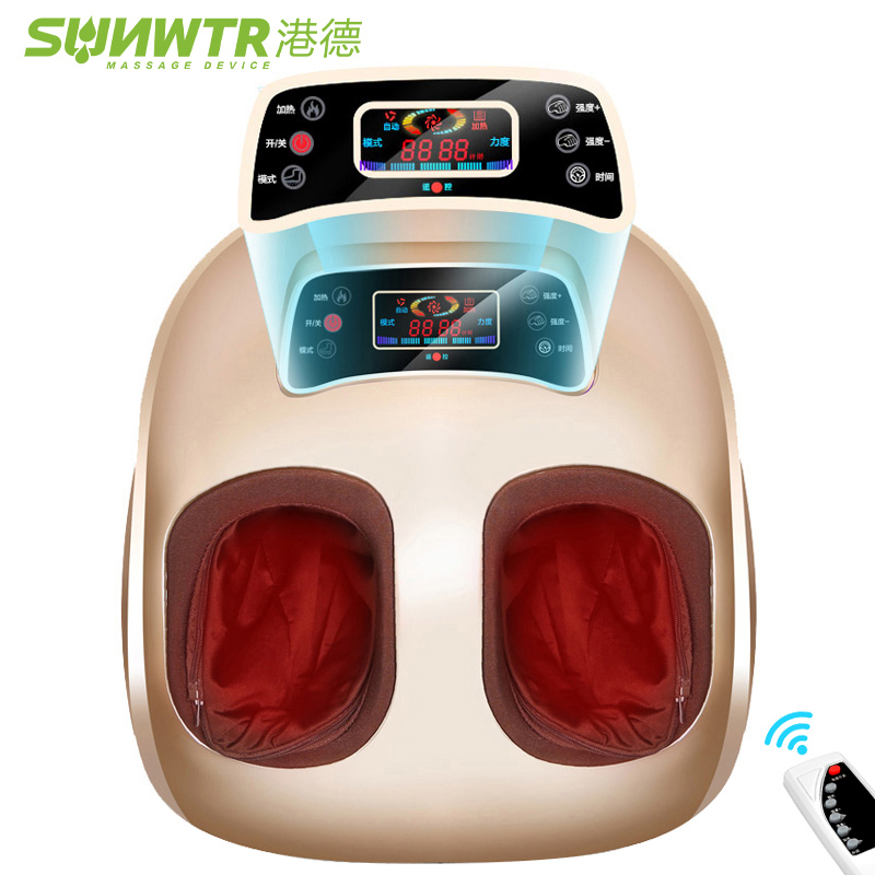 4D Shiatsu Electric Foot Massager machine Device With Air Compression Infrared Heating Automat Electric Vibrator for Health Care hfr 8802 3 healthforever brand wireless control kneading device legs instrument electric shiatsu air bag foot massager machine