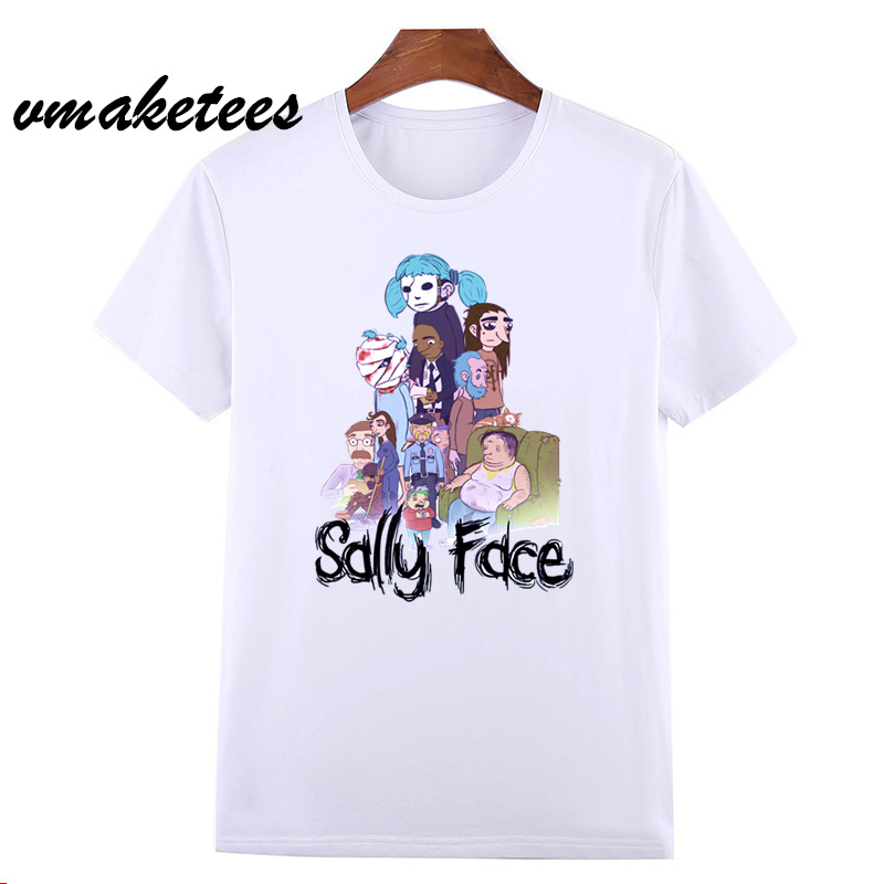 Sally Face   T  -  shirt   Men/Women Short Sleeve New Summer   t     shirts   Men Game Sally Face   t  -  shirt   Fashion Mens Tops HCP4553