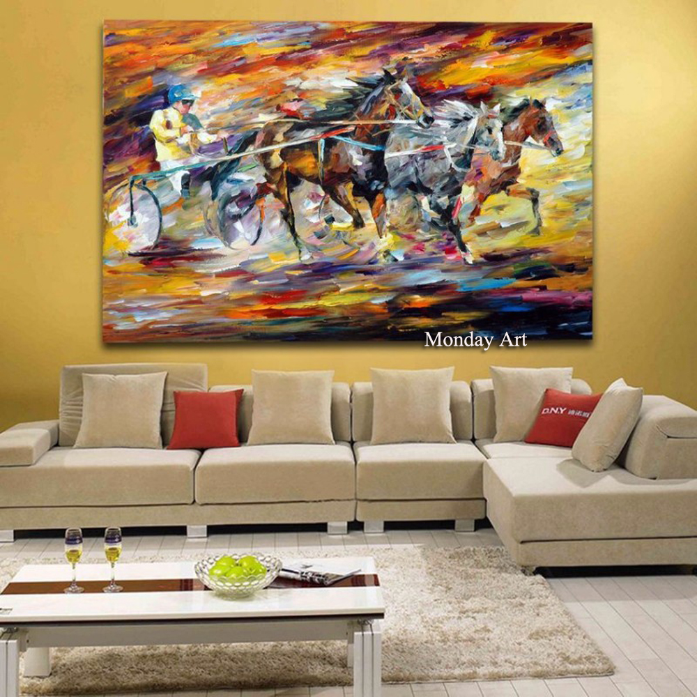 Mintura Art Hand Painted Palette Knife Tree Landscape Oil Paintings on Canvas Modern Wall Picture For Living Room Home Decor in Painting Calligraphy from Home Garden