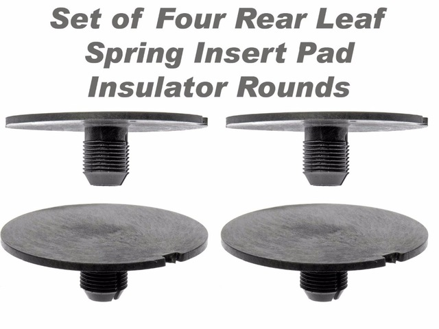 Rear Leaf Spring Plastic Insert Spacer (4 PCS) For 1998-2011 Chevy GMC