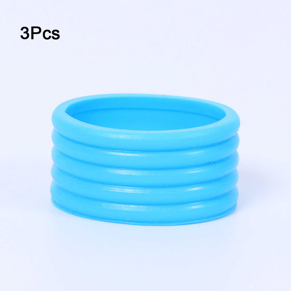 Elastic Absorb 3pcs Racquet Fix Ring Badminton Band Stretchy Tennis Grip Ring Sweat Handle's Silicone Overgrip Protector Sports