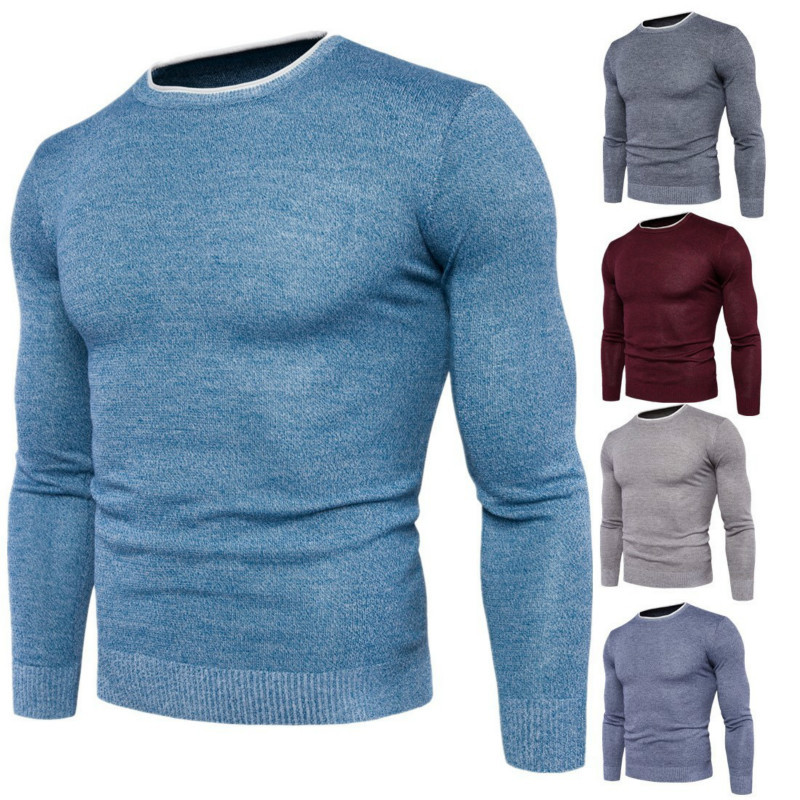 Men's Knit Wear Jumpers Sweaters hombre Slim fit Basis Tops Pullover sweater men brand sweter O Neck Solid Color New mens jumper