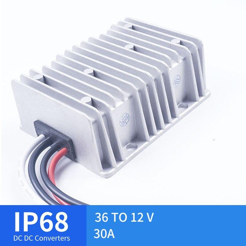 36-turn 12V30A grand régulateur de tension de convertisseur de cc de coquille en aluminium pour l'alimentation de alimentation LED automobile