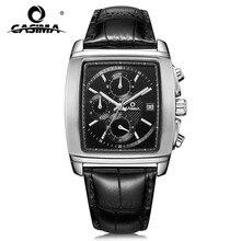 CASIMA waterproof dress date chronograph black leather watchband man watch with luminous 5115 все цены