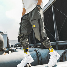 Men cargo pants 2019 new arrival spring and autumn hip hop trend pockets male ankle-length hot sale Korean style n24