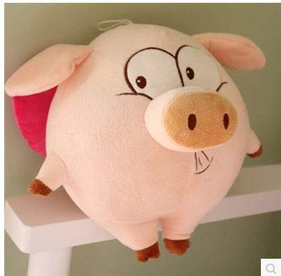 25cm and 55cm cartoon cute plush lovely pig pillow toy pink spot stuffed doll plush toy  doll birthday gift female child doll