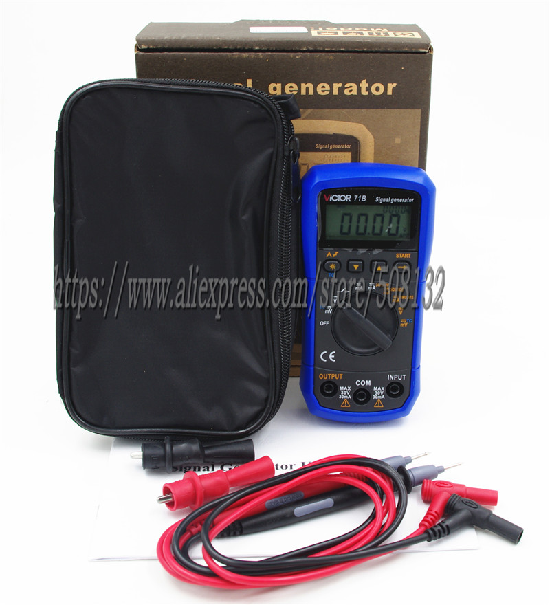 TH-71B Handheld Signal Generator Source Simulator Meter,DC Voltage Current Thermocouple K/E/J/T/B/R/S/N,24V Loop,V/mA bed making tools